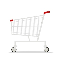 side view empty supermarket vector image