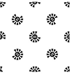 Sign 85 load pattern seamless black vector