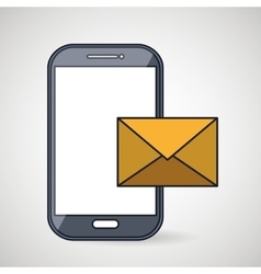 smartphone message envelope letter vector image