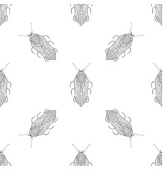 Summer pattern with bugs and butterflies vector