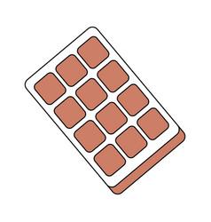 Sweet chocolate bar vector