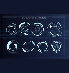 technology futuristic modern user interface circle vector image