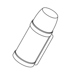 thermos for tea and coffeetent single icon in vector image