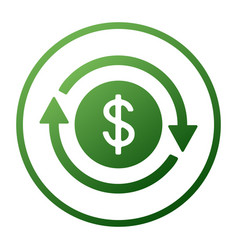 Time is money icon dollar with clock linear sign vector