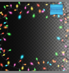 transparent background with glowing festive vector image