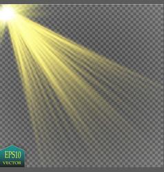 transparent sunlight special lens flare light vector image
