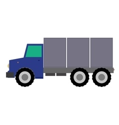 Truck flat design on white vector