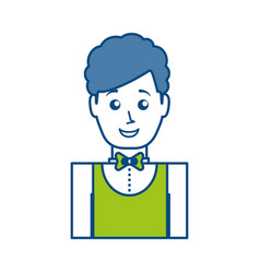 Waiter man icon vector