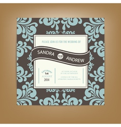 Wedding card dark vector