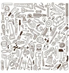 Working tools - doodles vector