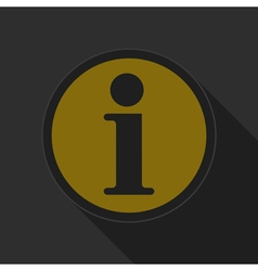 Yellow round button black information symbol icon vector