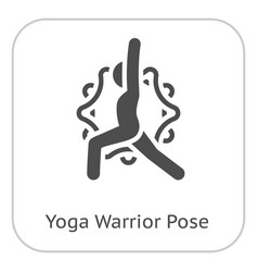 Yoga warrior pose icon flat design isolated vector
