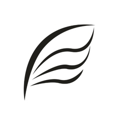 Bird wing icon simple style vector image vector image