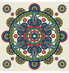 Indian paisley hand drawn mandala vector image vector image