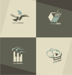 Musical logo design concepts vector image