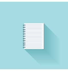Notepad flat cion with shadow vector image vector image