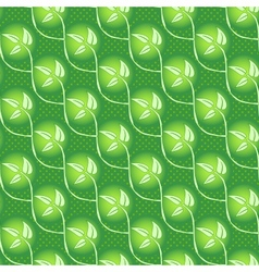 seamless abstract grass leaf background vector image