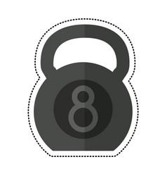 cartoon kettlebell fitness gym sport vector image