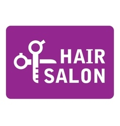 hair salon icon with scissors vector image vector image