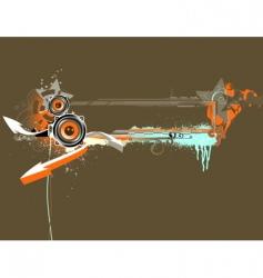 music grunge frame vector image vector image