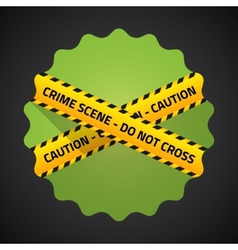 Police Barricade Tape Flat icon background vector image