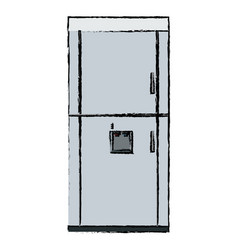 Refrigerator freeze modern stainless steel vector
