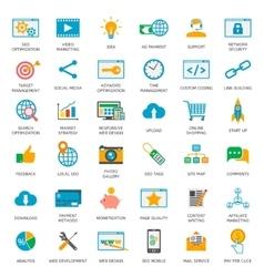 SEO optimization icons vector image