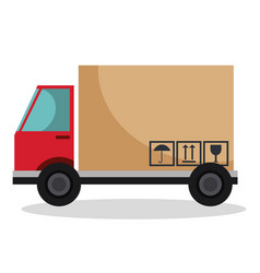 truck delivery service icon vector image