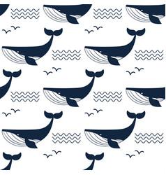 whale aquatic animal seamless vector image