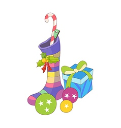A view of gifts vector image