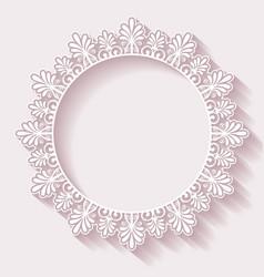 Christmas ornate frame vector image vector image
