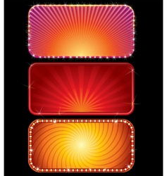 glowing signs vector image vector image