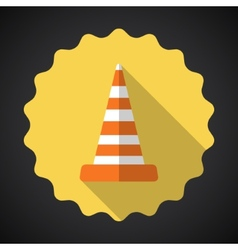 Police Road Cone Flat icon background vector image