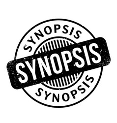 synopsis rubber stamp vector image vector image