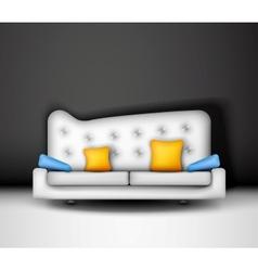 White sofa vector image vector image