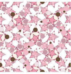 abstract seamless pattern with stars vector image