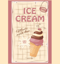 banner with current ice cream vector image