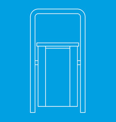 Outdoor litter waste bin icon outline style vector