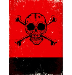 Poster with the skull vector image vector image