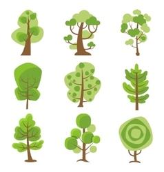 Tree Logo Cartoon Decorative Icons vector image vector image