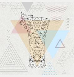 abstract polygonal tirangle cocktail absinthe vector image