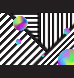 abstract stripe black and white lines pattern vector image