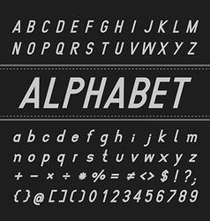 Alphabet Font Design Bold Italic vector