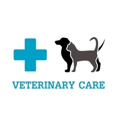 Animals on vet symbol vector