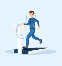 astronaut physical test flat vector image