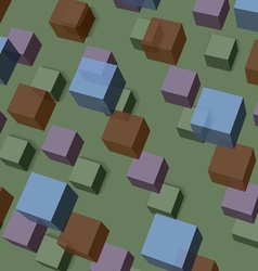 Background of transparent cubes vector image
