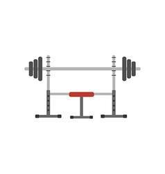 Barbell on a stand vector image