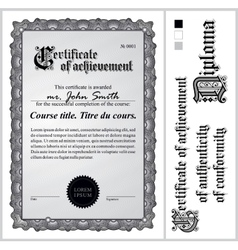 Black and white certificate Template Vertical vector image