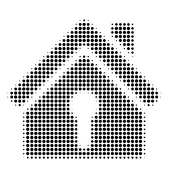 Black dotted home keyhole icon vector