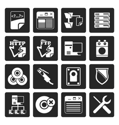 Black Server Side Computer icons vector